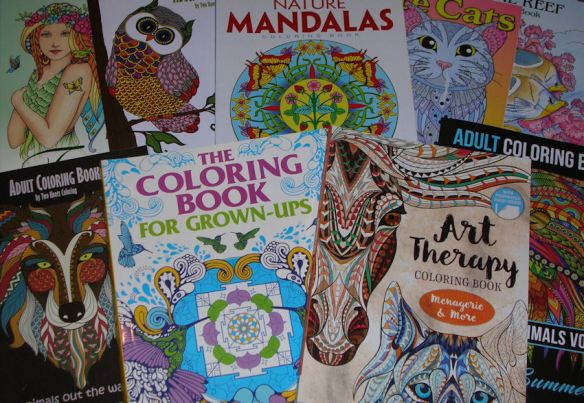 A wide variety of coloring book subjects