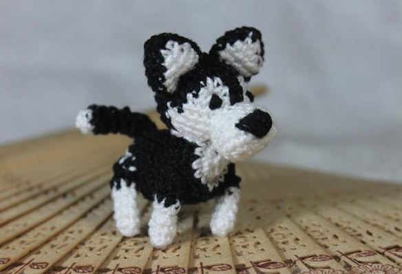 Black & White Toy Dog