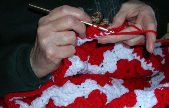 The Last Stitch in a Granny Squares Afghan