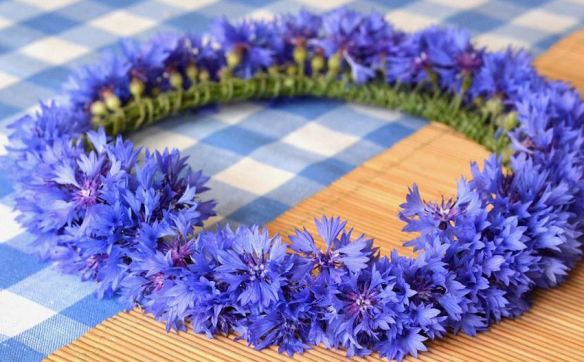 Blue Floral Wreath