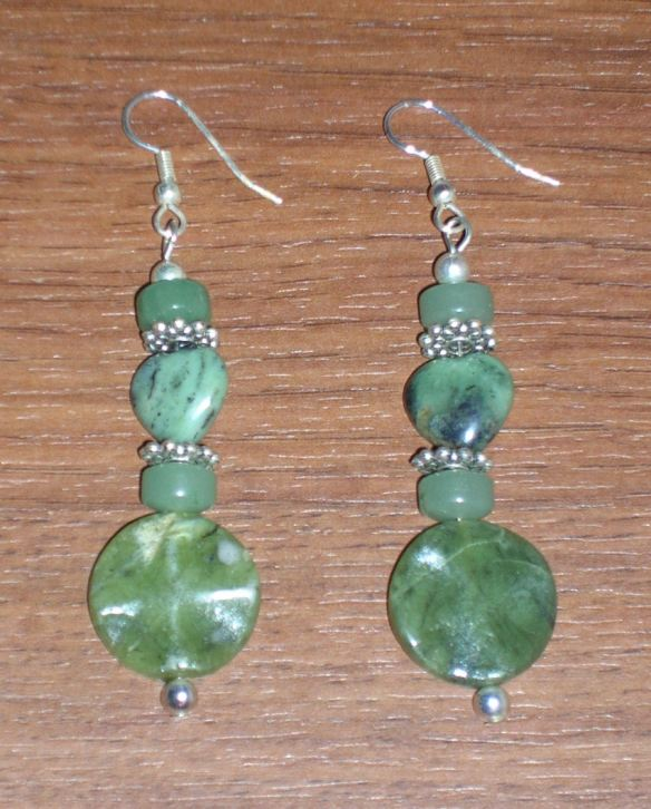 Green Gemstone Earrings