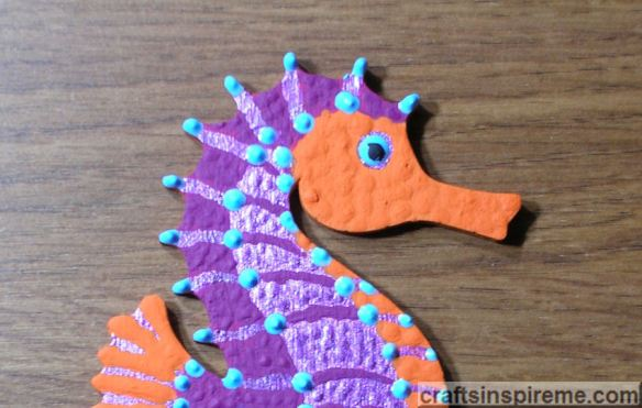 Purple Seahorse Detail