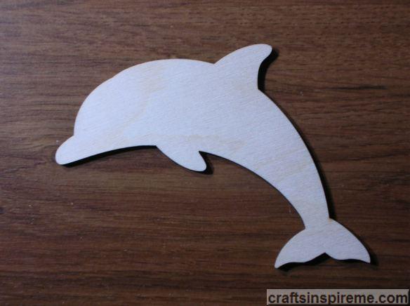 Raw Wood Dolphin