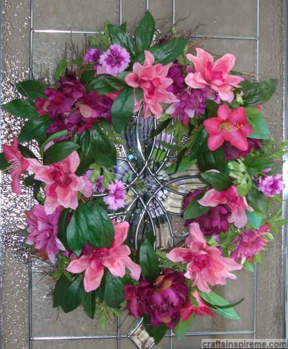 Pink Spring Floral Wreath