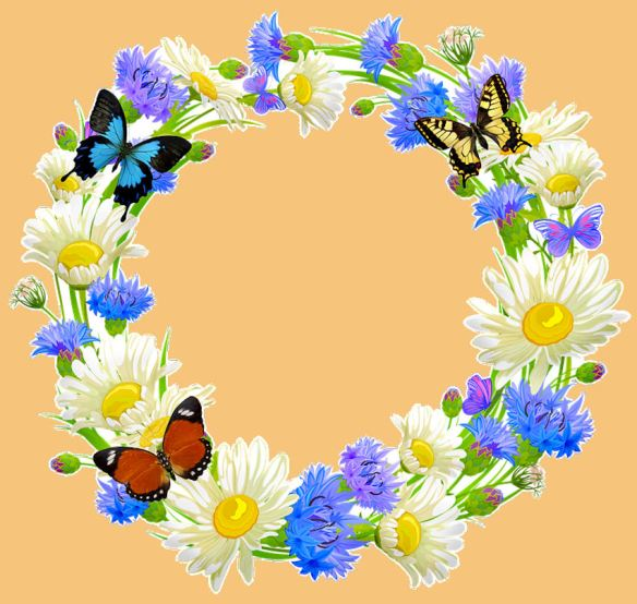 Butterfly Floral Garland