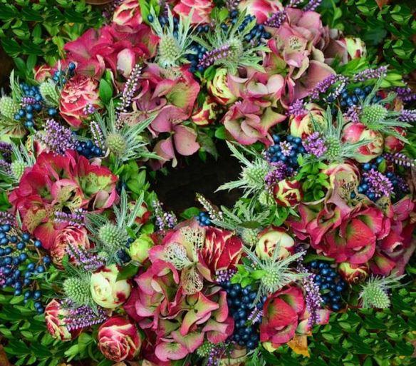 Pink Blue Wreath