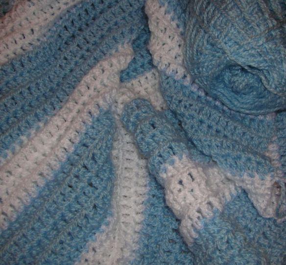 Blue & White Baby's Blanket