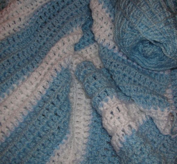 Blue & White Baby's Blanket