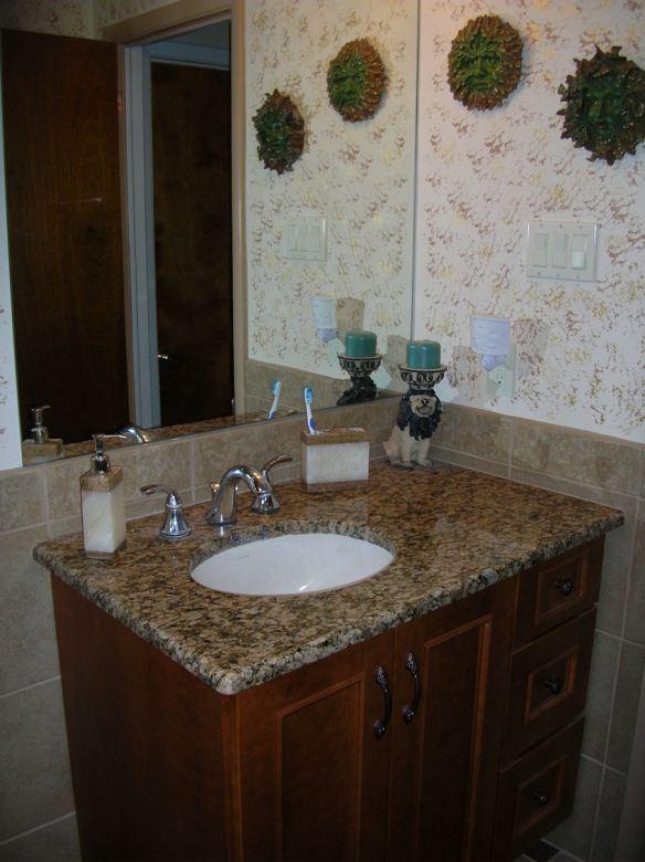 Sponge Painted Bathroom