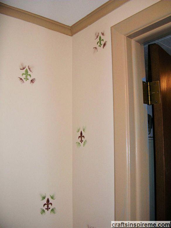 Painted Powder Room