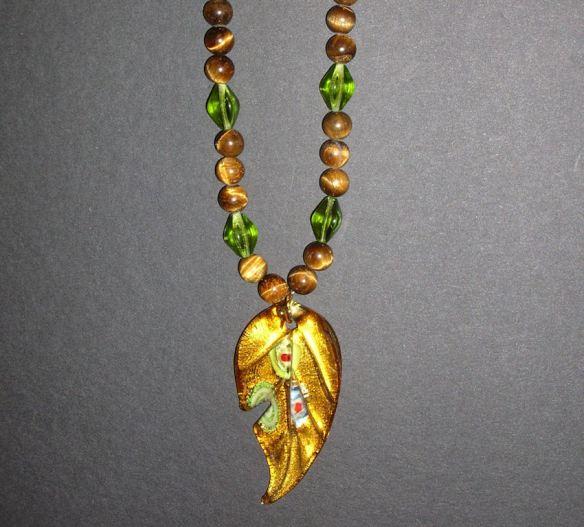 Tigerseye & Glass Necklace