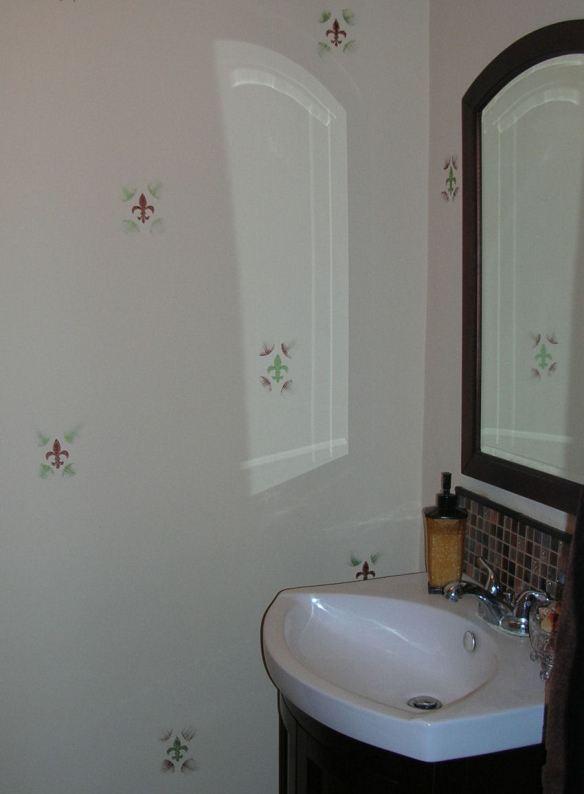 Fleur-de-lis Powder Room