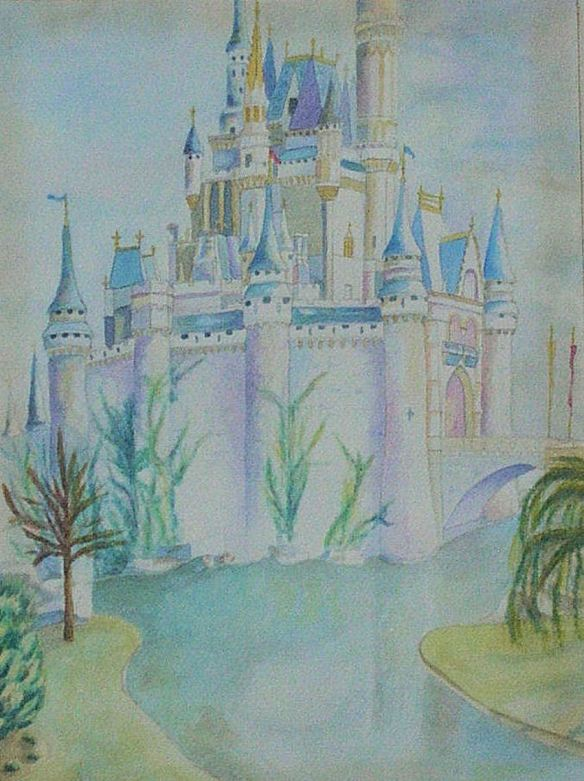 Watercolor Disney's Castle
