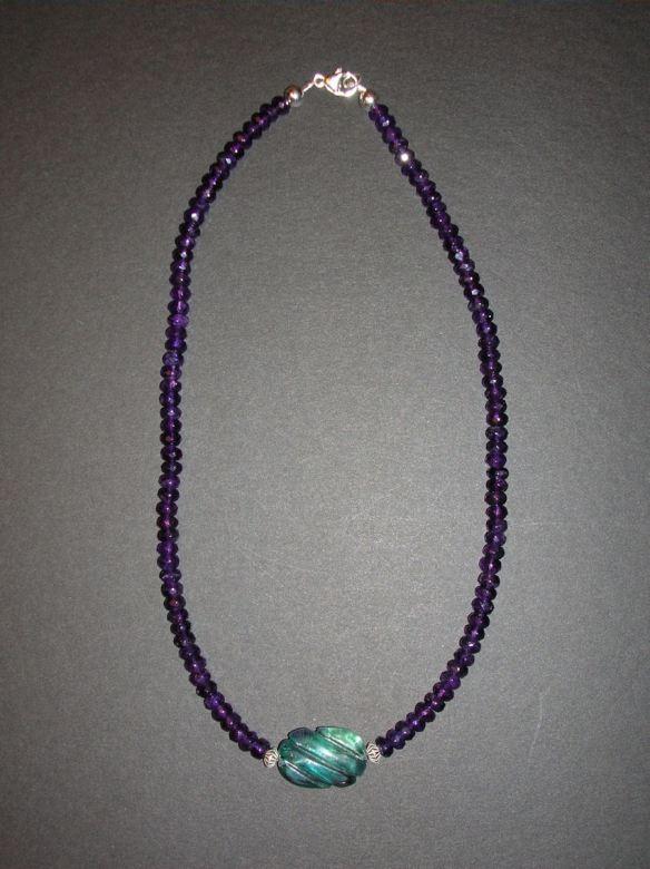 Amethyst & Fluorite Necklace