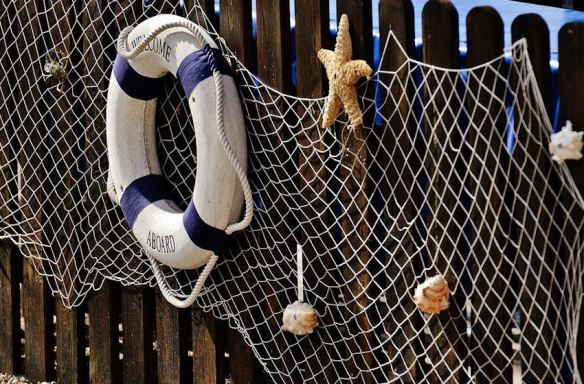 Fishing Net with Life Preserver