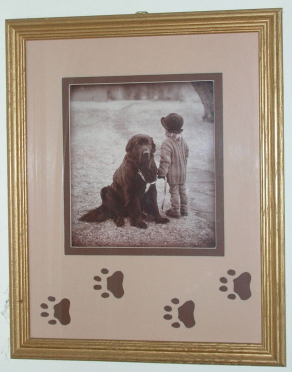 Footprints Matted Photo