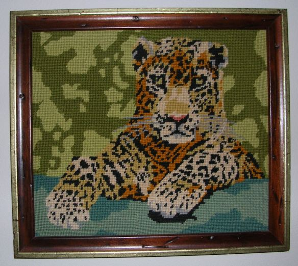 Jaguar Needlepoint