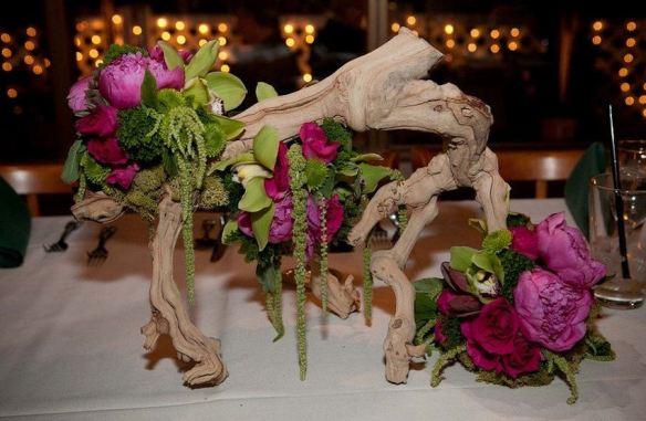 Floral Driftwood Centerpiece