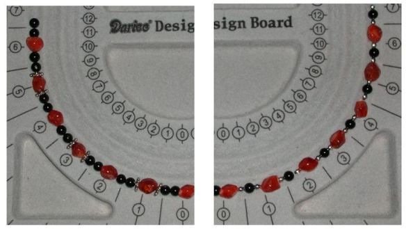 Black Onyx, Carnelian & Silver-Plated Metal Beads