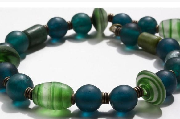 Necklace - Glass & Metal Beads