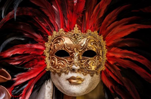 Red Feathered Mask