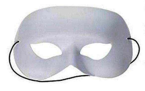 Plain White Quarter Mask – Ready for Decorating