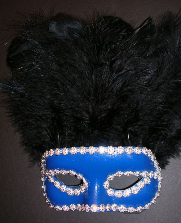 The Finished Black Feather Mask