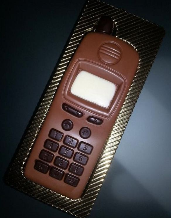 Solid Chocolate Cell Phone