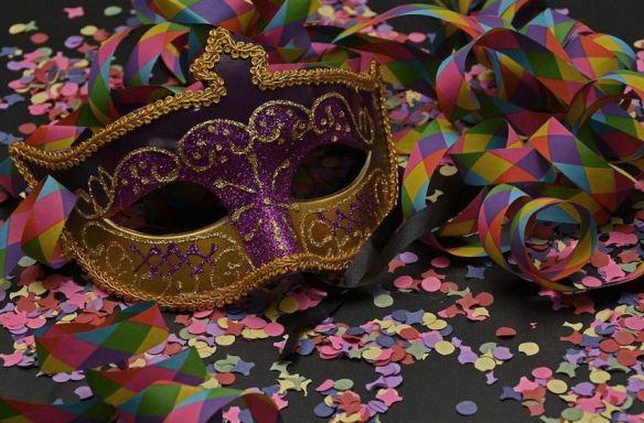 Purple Gold Mask