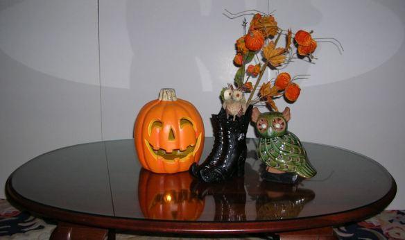 Boots, Pumpkin & Owl