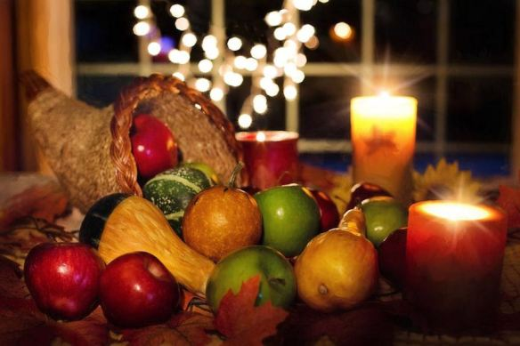 Traditional Thanksgiving Cornucopia Centerpiece