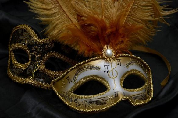 Black & Gold Opera/Theater Masks