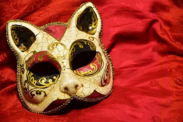 Antiqued Cat Mask