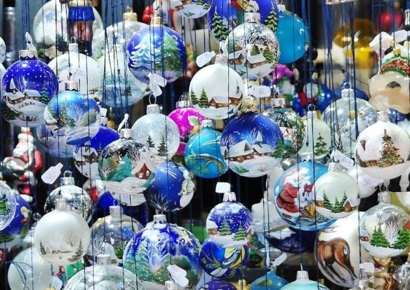 Hand Painted Glass Ornaments