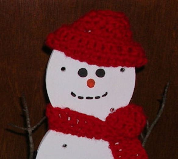 Snowman Closeup Photo