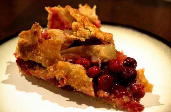 Cranberry Rhubarb Pie