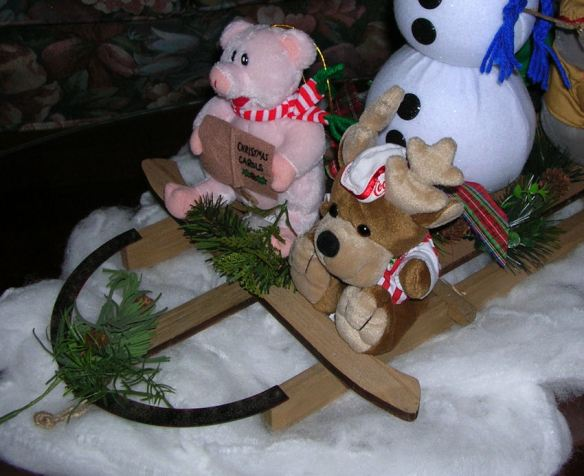 Sledding Centerpiece