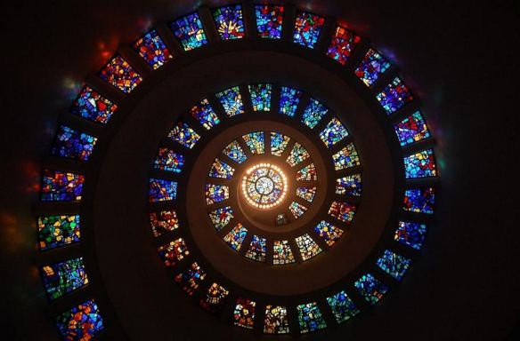 Spiral Stained Glass Windows