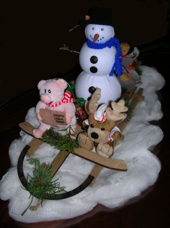 Completed Sledding Centerpiece - Front