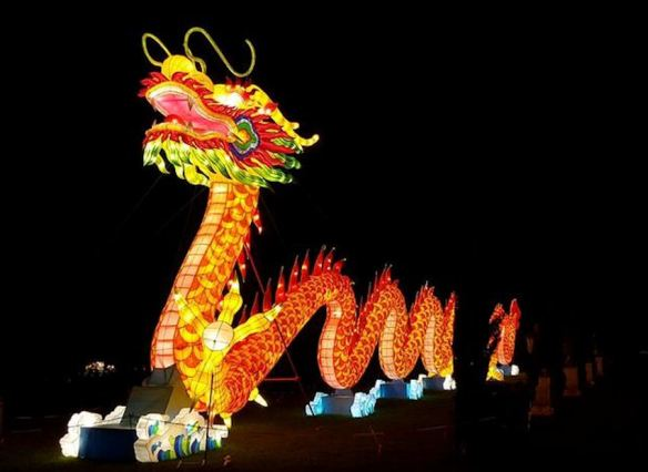 Orange Chinese Dragon