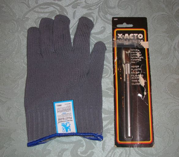Fillet Glove & X-Acto Knife