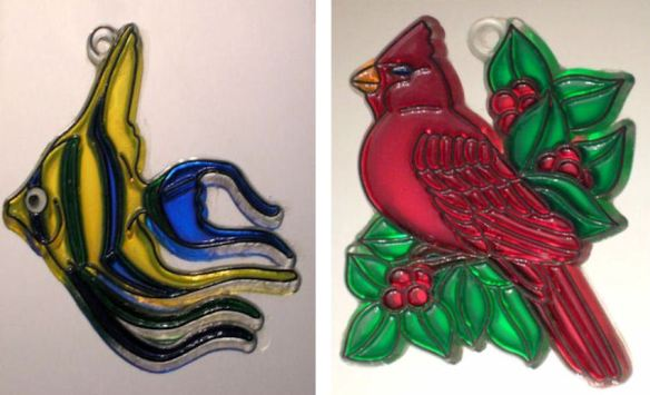 Tropical Fish & Cardinal Suncatchers