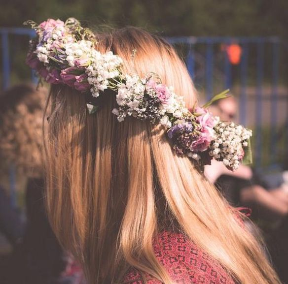 Dried Flowers Crown
