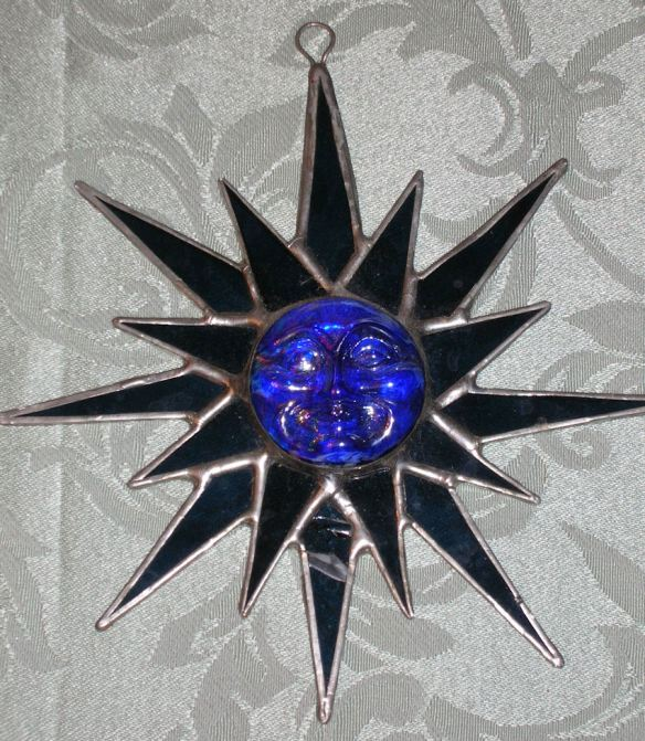 Sunburst Stained Glass Suncatcher