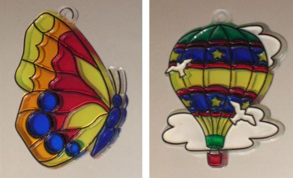 Butterfly & Hot Air Balloon Suncatchers