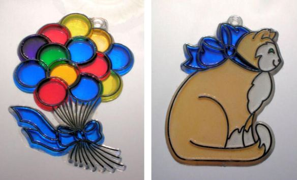 Balloon Bouquet & Cat Suncatchers