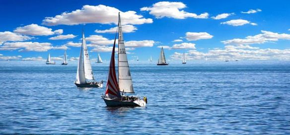 Sailboats on the Ocean