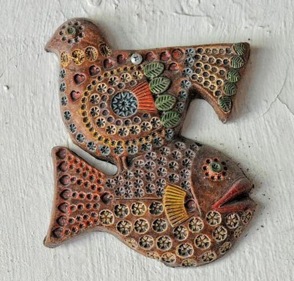 Wooden Bird & Fish