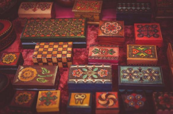 Painted Wood Boxes