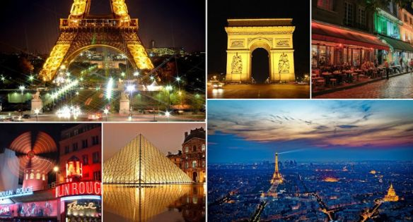 French Sightseeing Collage